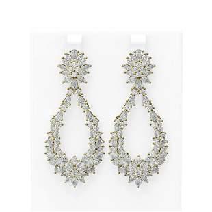21.3 ctw Diamond Earrings 18K Yellow Gold - REF-2228X8A