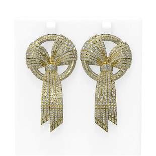 11.45 ctw Diamond Earrings 18K Yellow Gold - REF-985F3M