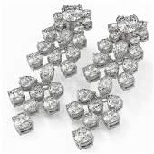 14.92 ctw Mixed Cut Diamond Designer Earrings 18K White