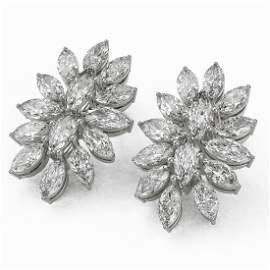 6 ctw Marquise Diamond Designer Earrings 18K White Gold