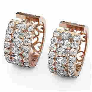 13.36 ctw Pear Cut Diamond Earrings 18K Rose Gold -
