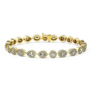 8 ctw Mix Cut Diamonds Designer Bracelet 18K Yellow