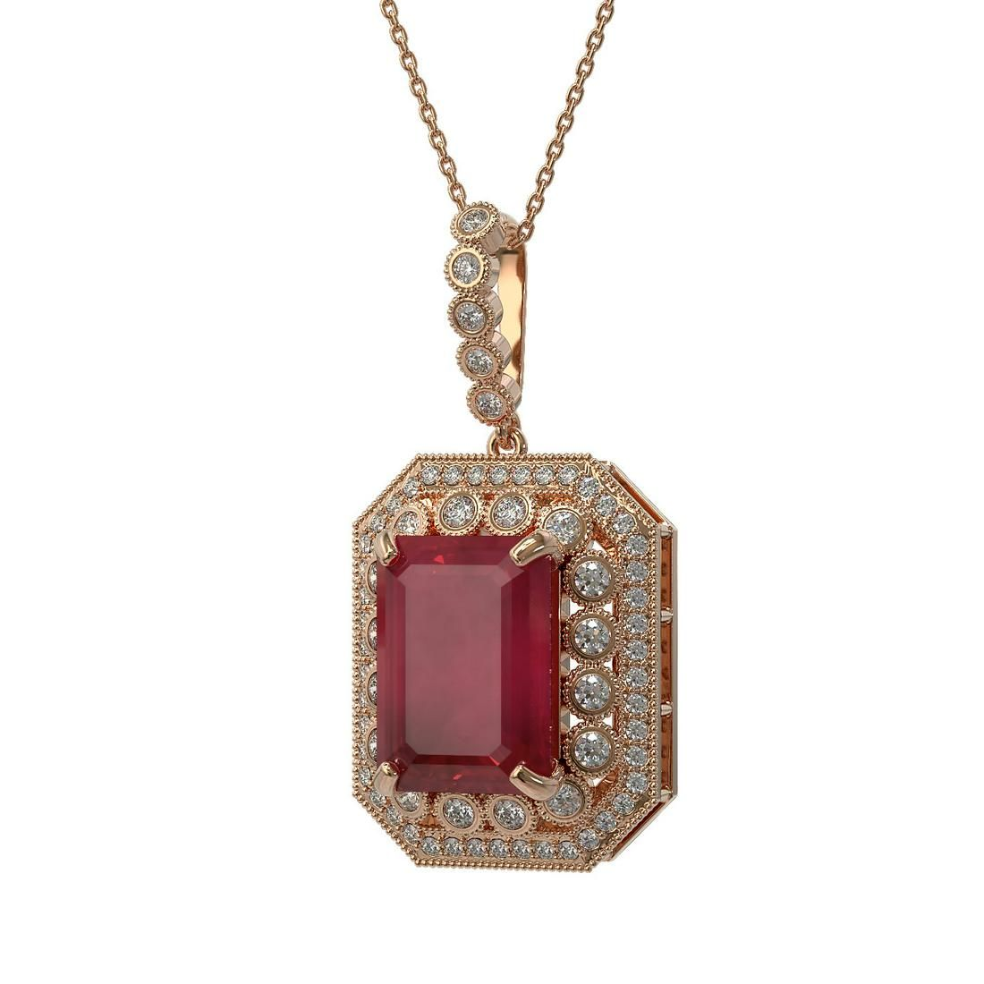 16.46 ctw Certified Ruby & Diamond Victorian Necklace