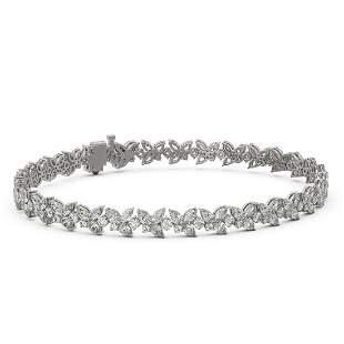 12 ctw Mix Cut Diamonds Designer Bracelet 18K White