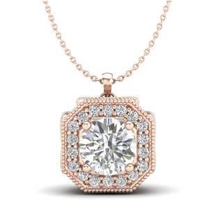 1.54 ctw VS/SI Diamond Solitaire Art Deco Necklace 18k