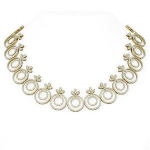 28.43 ctw Diamond Necklace 18K Yellow Gold -