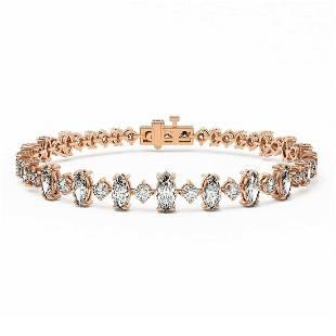 12 ctw Marquise Diamond Designer Bracelet 18K Rose Gold