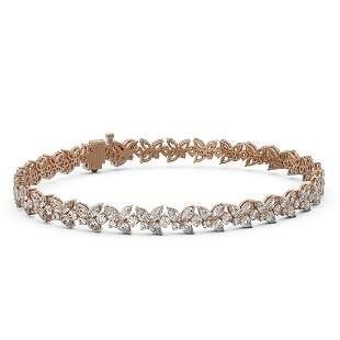 12 ctw Mix Cut Diamonds Designer Bracelet 18K Rose Gold