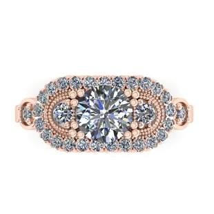 1.75 ctw Solitaire VS/SI Diamond Ring Art Deco 18k Rose