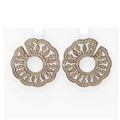 4.48 ctw Diamond Earrings 18K Rose Gold - REF-377H8R
