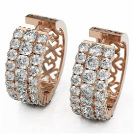 10.58 ctw Cushion Cut Diamond Designer Earrings 18K