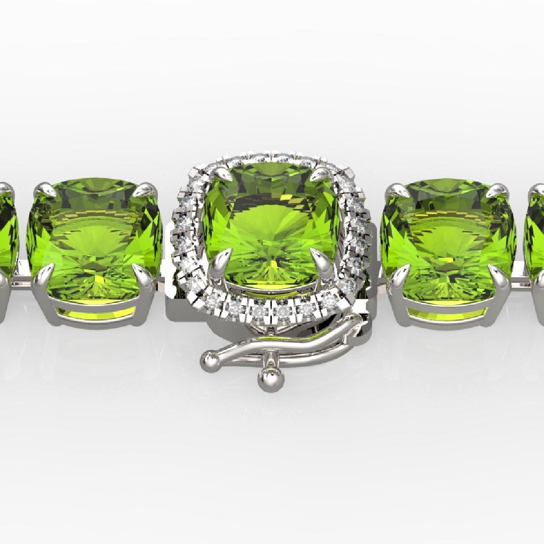 40 CTW Peridot & Micro VS/SI Diamond Halo Designer