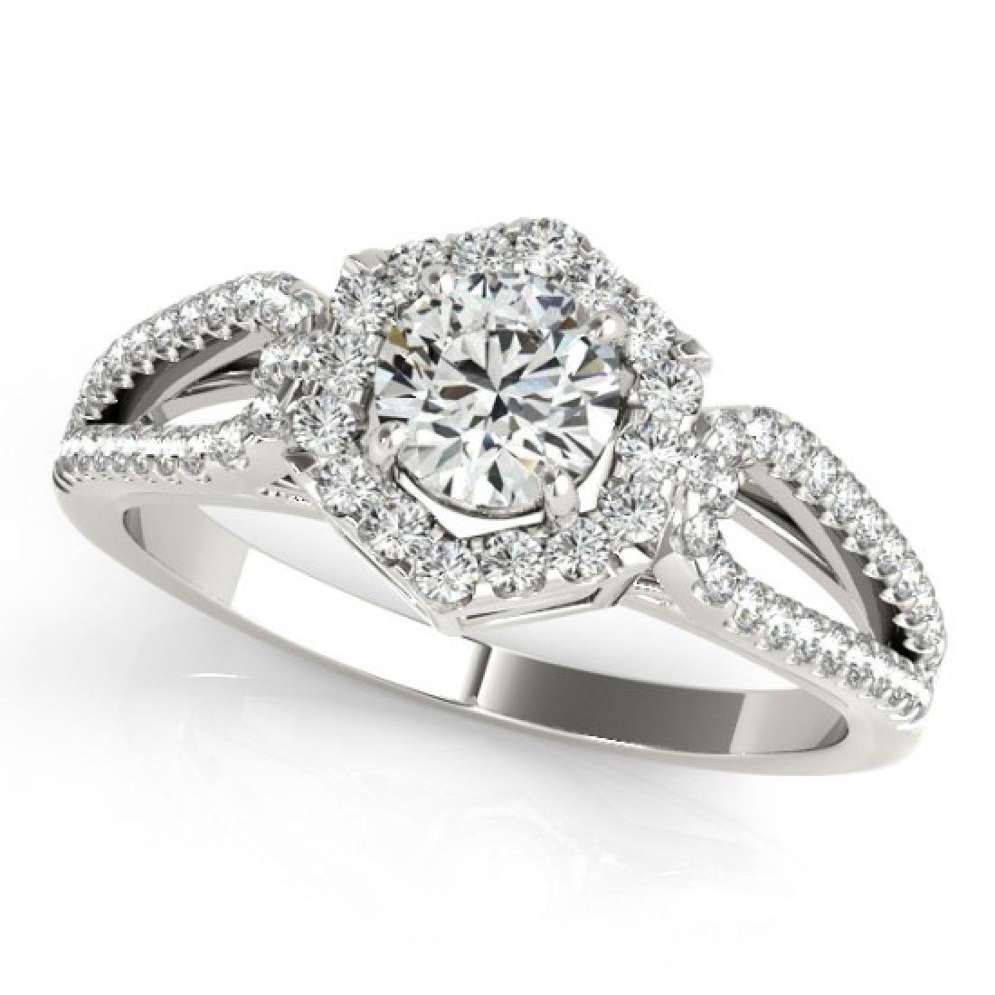 0.90 CTW Certified VS/SI Diamond Solitaire Halo Ring