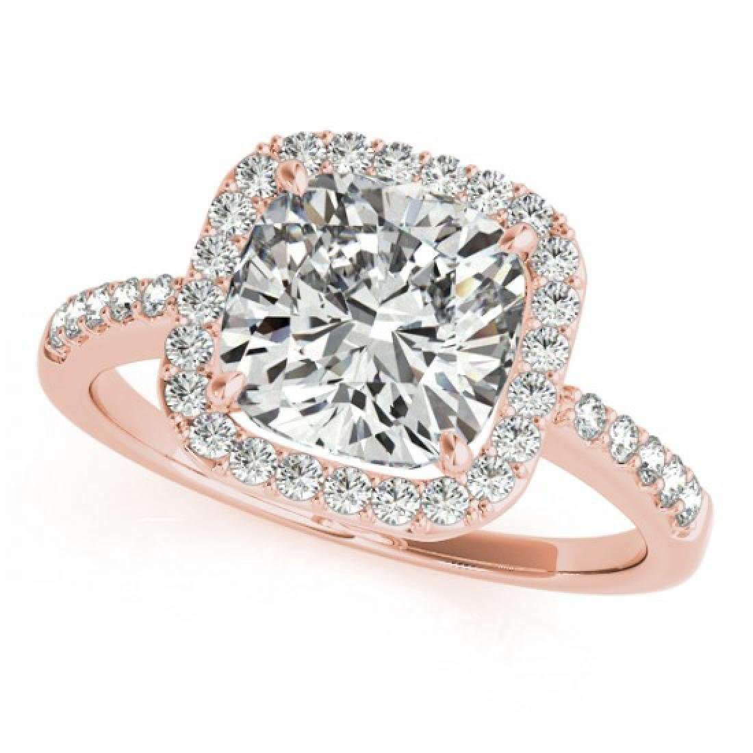 0.60 CTW Certified VS/SI Cushion Diamond Solitaire Halo