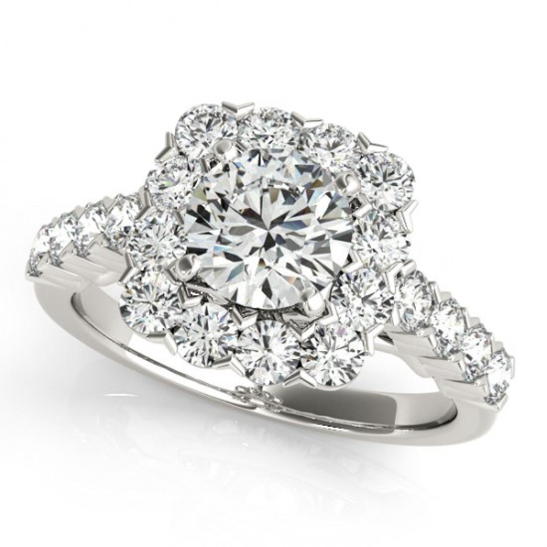 1.50 CTW Certified VS/SI Diamond Solitaire Halo Ring