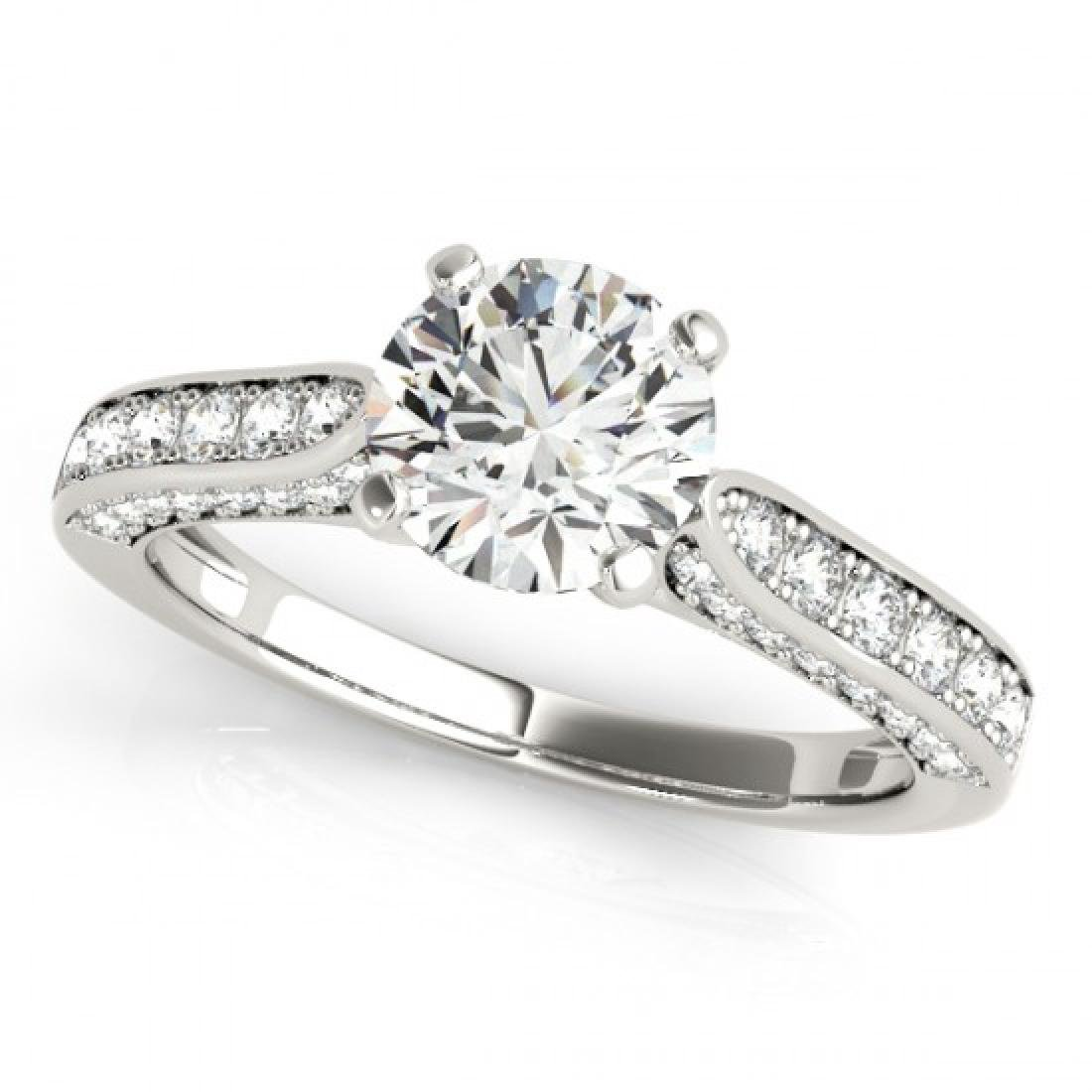 1.10 CTW Certified VS/SI Diamond Solitaire Ring 14K