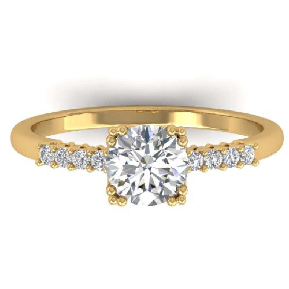 0.93 CTW Certified VS/SI Diamond Solitaire Art Deco