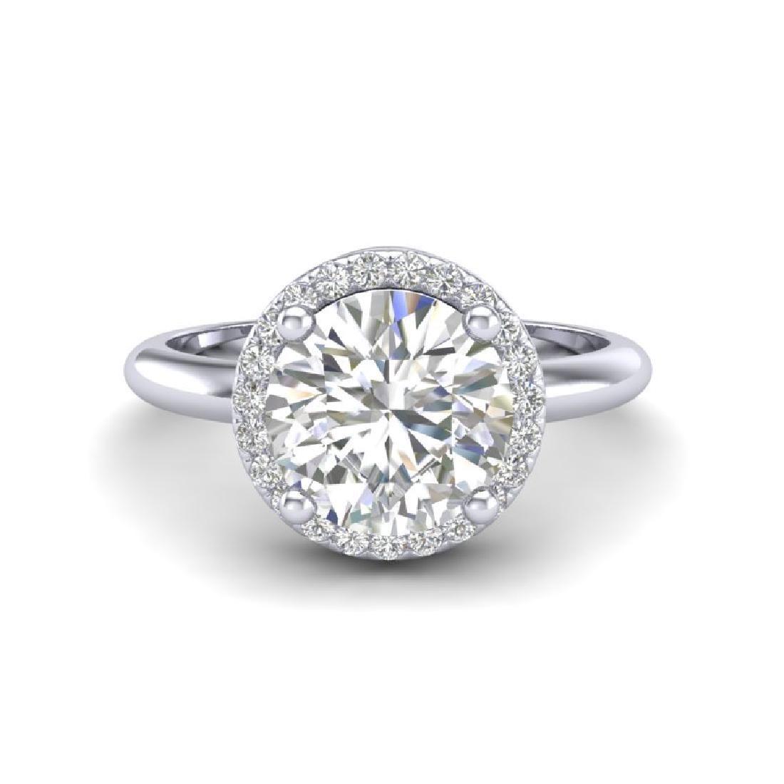 2 CTW Micro Pave VS/SI Diamond Certified Ring Designer