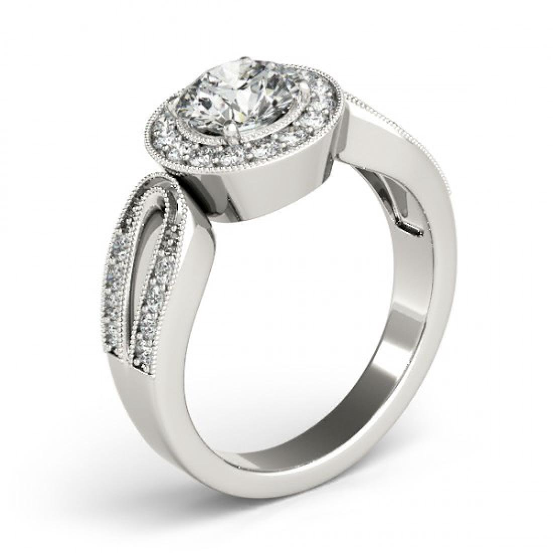 1.40 CTW Certified VS/SI Diamond Solitaire Halo Ring - 3