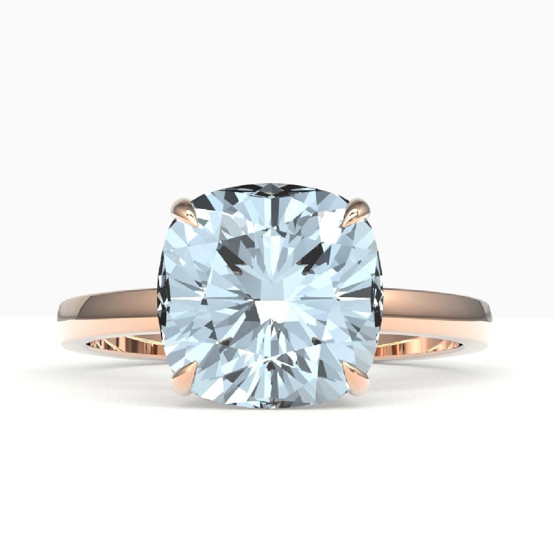4.50 CTW Cushion Cut Aquamarine Designer Inspired