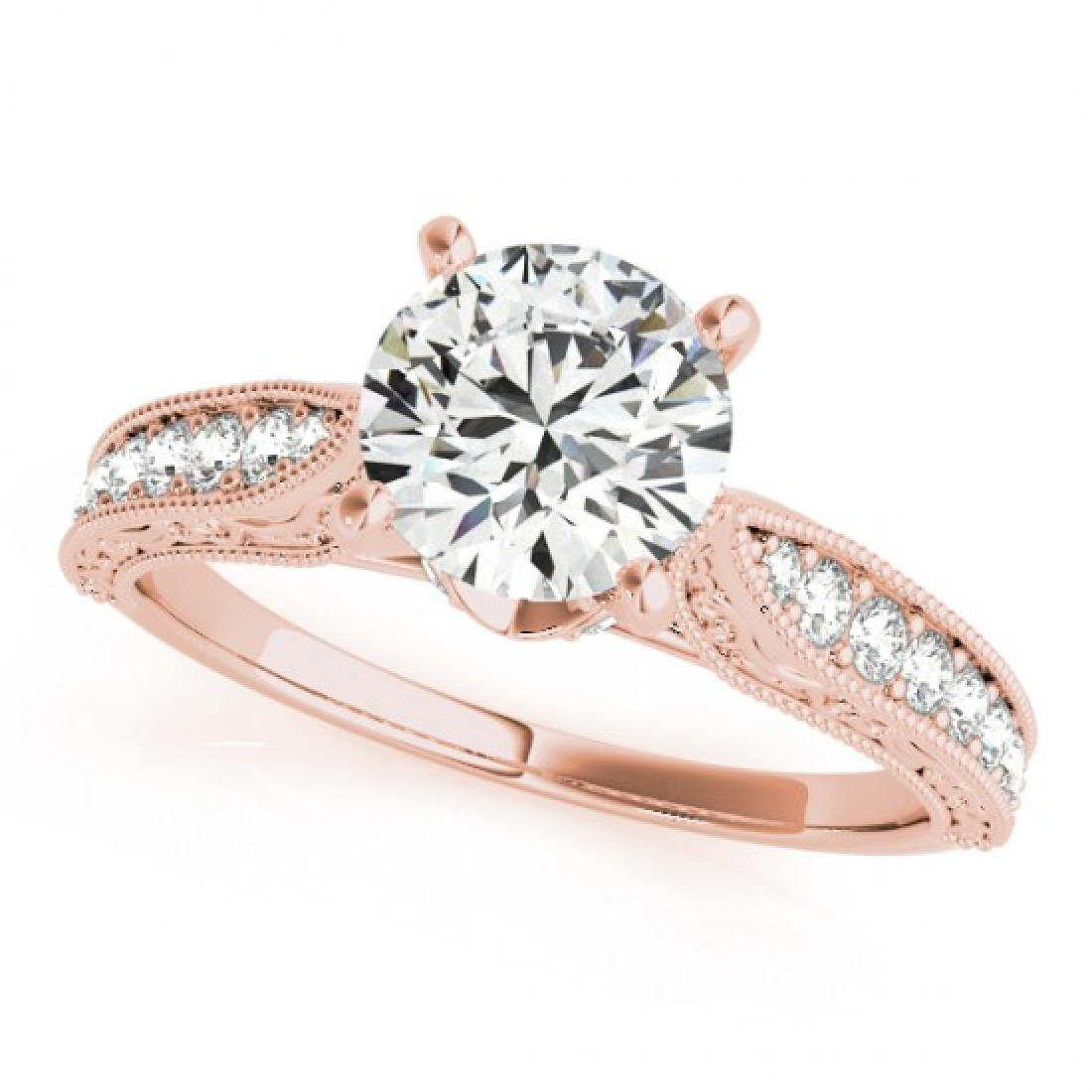 0.75 CTW Certified VS/SI Diamond Solitaire Antique Ring