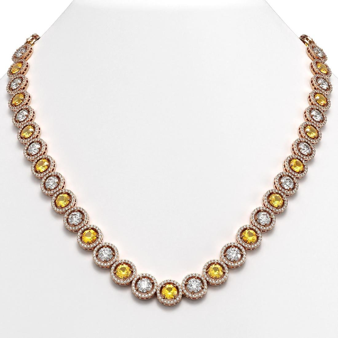 31.64 CTW Canary Yellow & White Diamond Designer