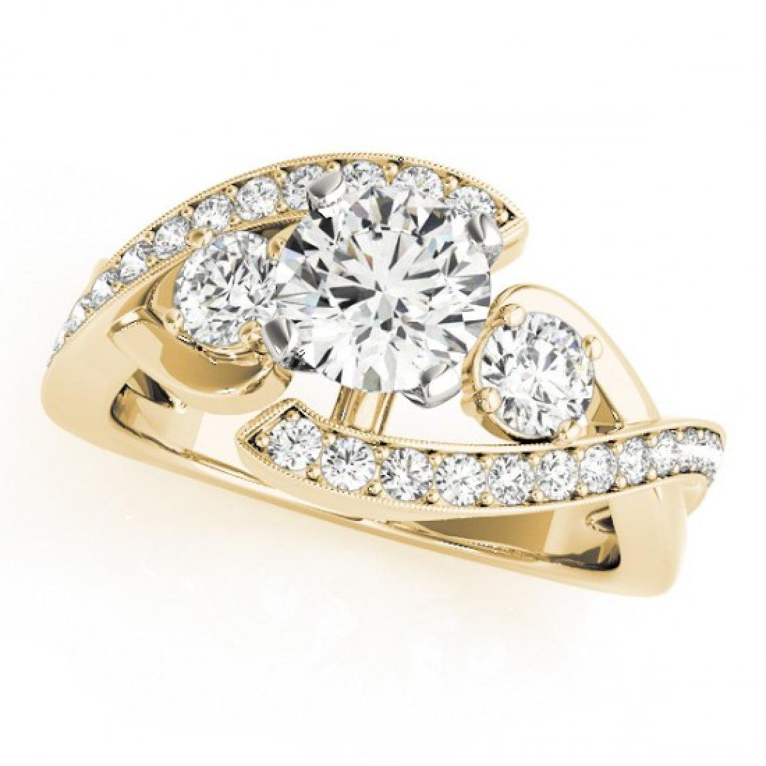 1.76 CTW Certified VS/SI Diamond Bypass Solitaire Ring