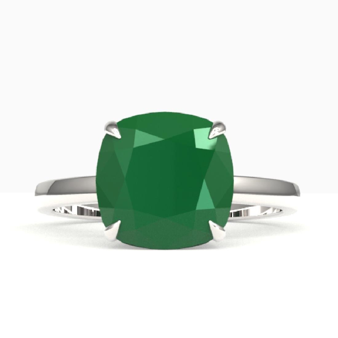 6 CTW Cushion Cut Emerald Designer Inspired Engagement