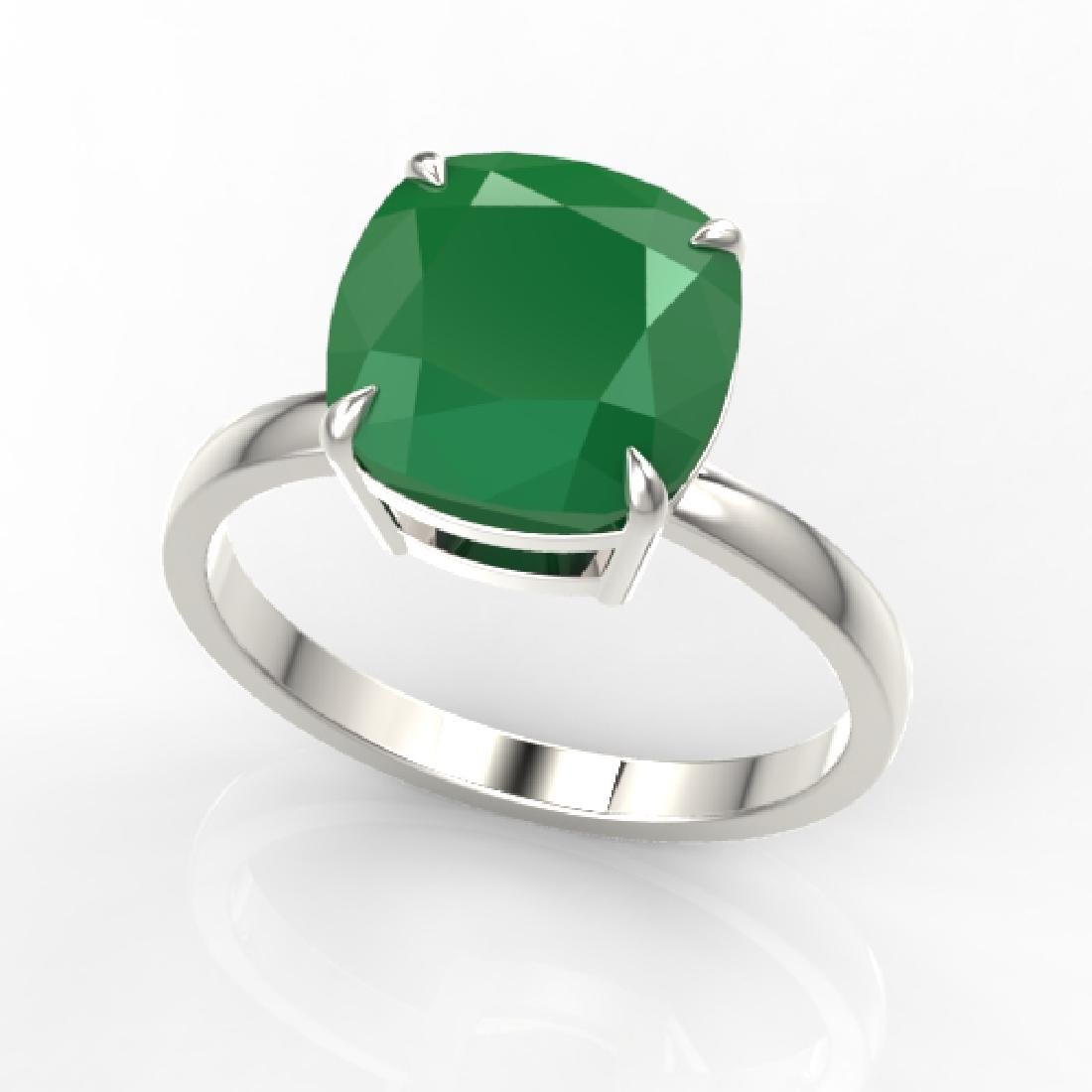 6 CTW Cushion Cut Emerald Designer Inspired Engagement - 2