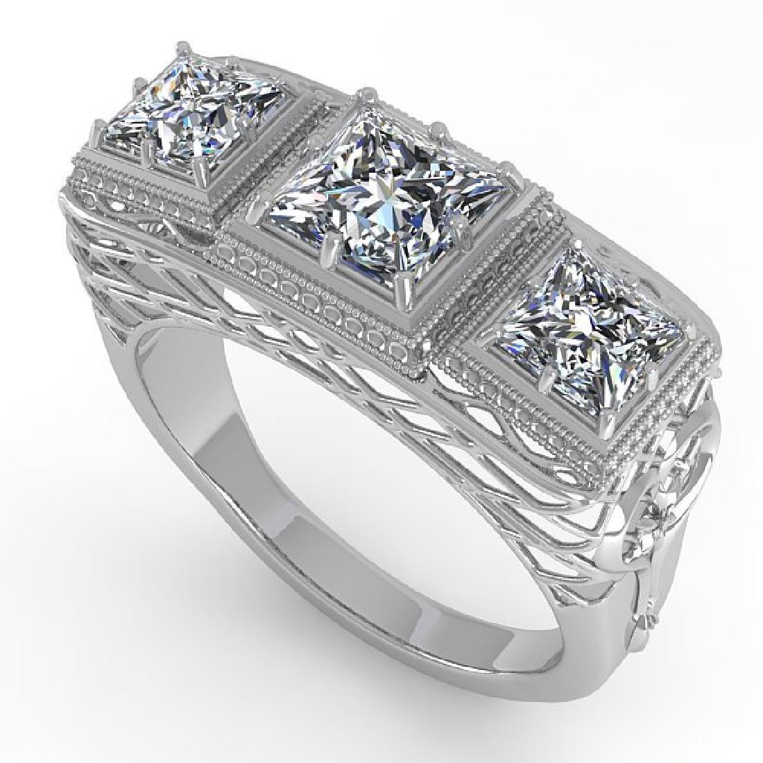 2 CTW VS/SI Princess Diamond Ring 14K White Gold - 2