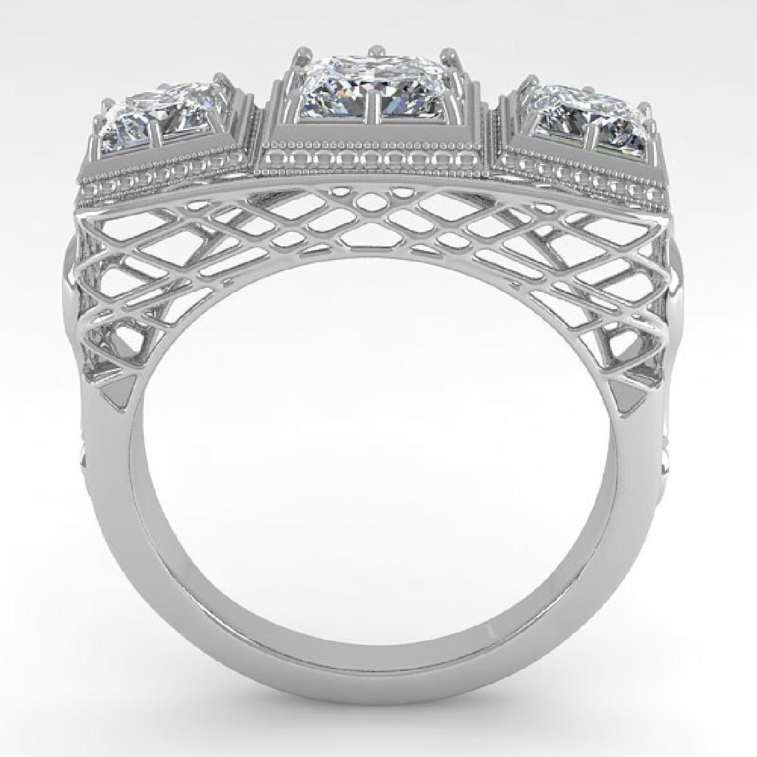 2 CTW VS/SI Princess Diamond Ring 14K White Gold - 3