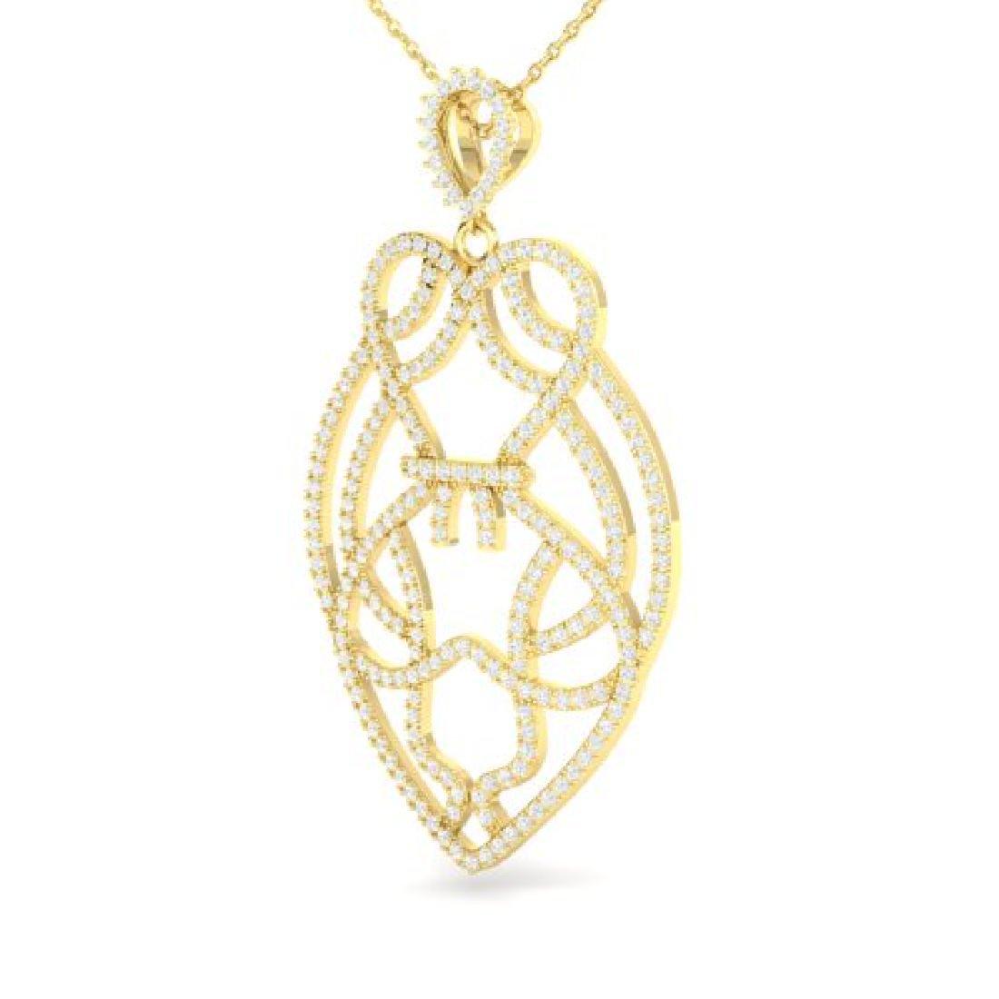 1.80 CTW Micro Pave VS/SI Diamond Heart Necklace - 2