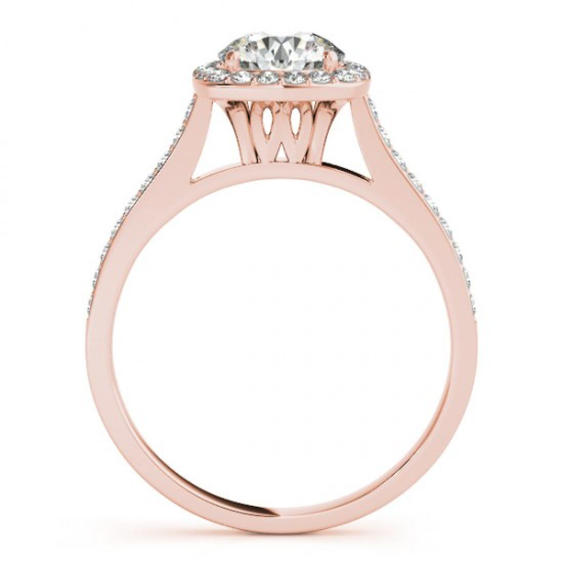 1.4 CTW Certified VS/SI Diamond Solitaire Halo Ring 14K - 2