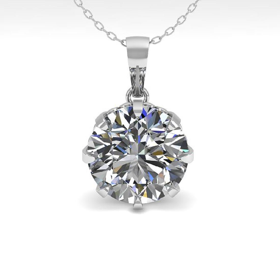 1 CTW VS/SI Diamond Solitaire Necklace 14K White Gold - 2