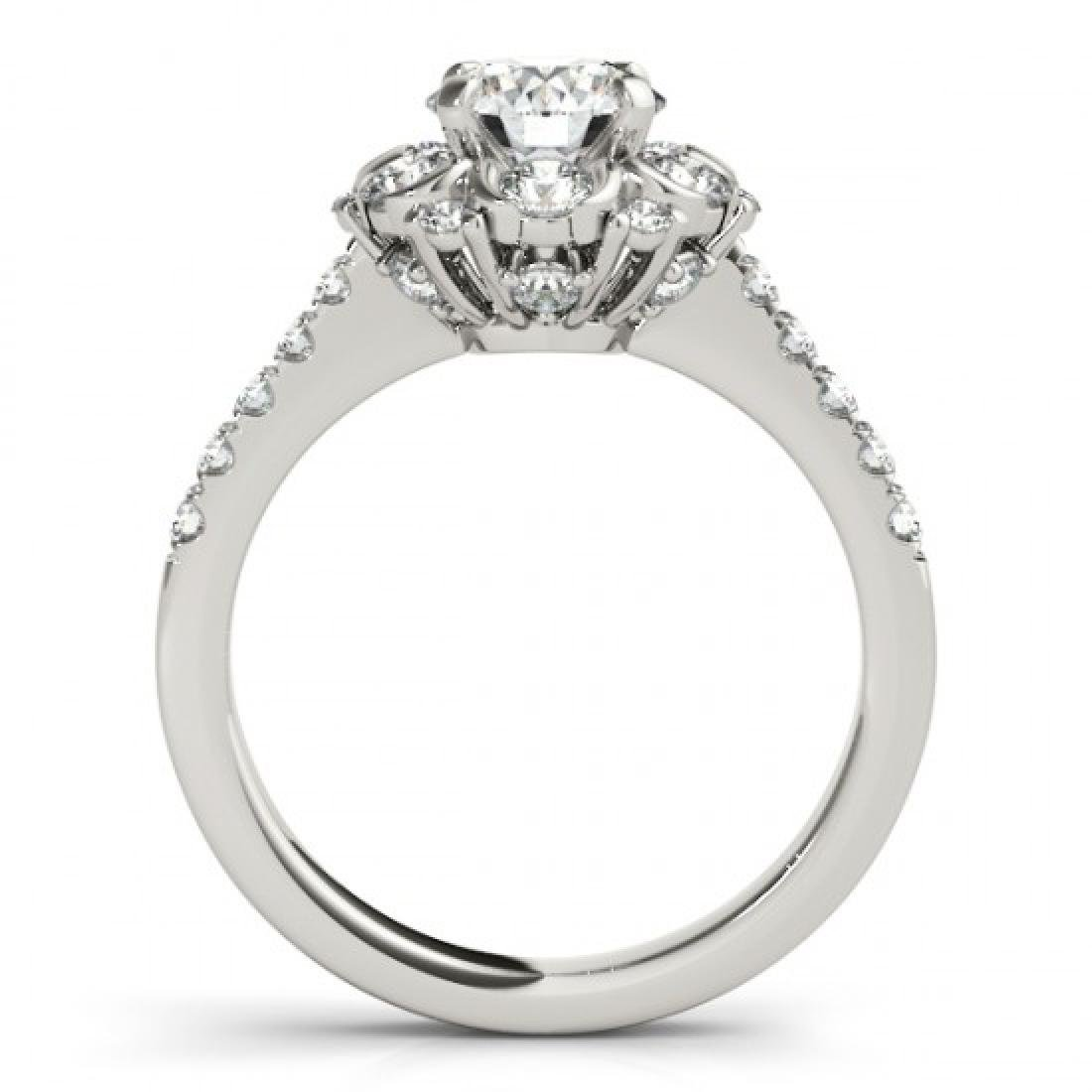 1.8 CTW Certified VS/SI Diamond Solitaire Halo Ring 14K - 2