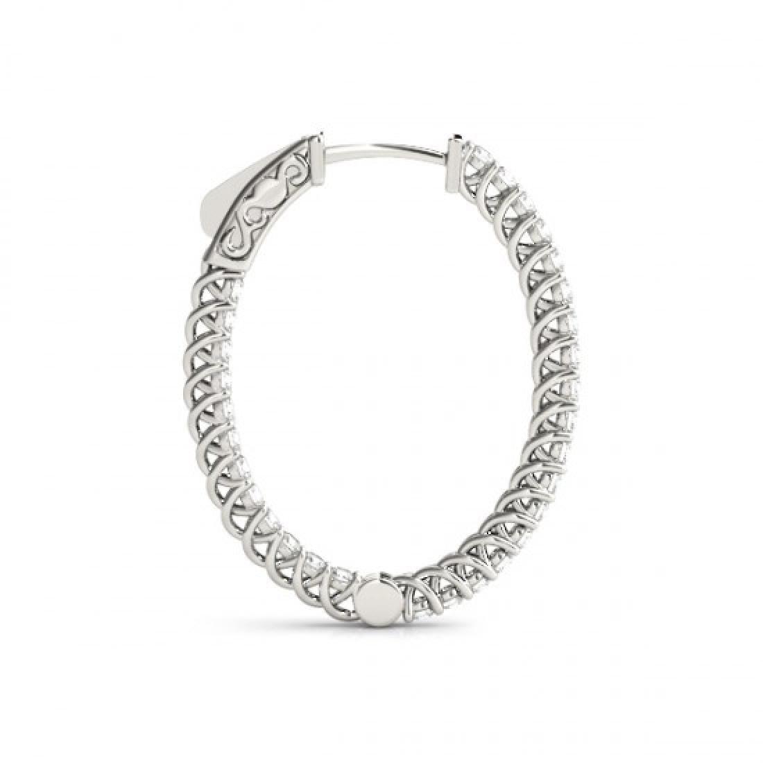 2.15 CTW Diamond VS/SI Certified 38 Mm Hoop Earrings - 3