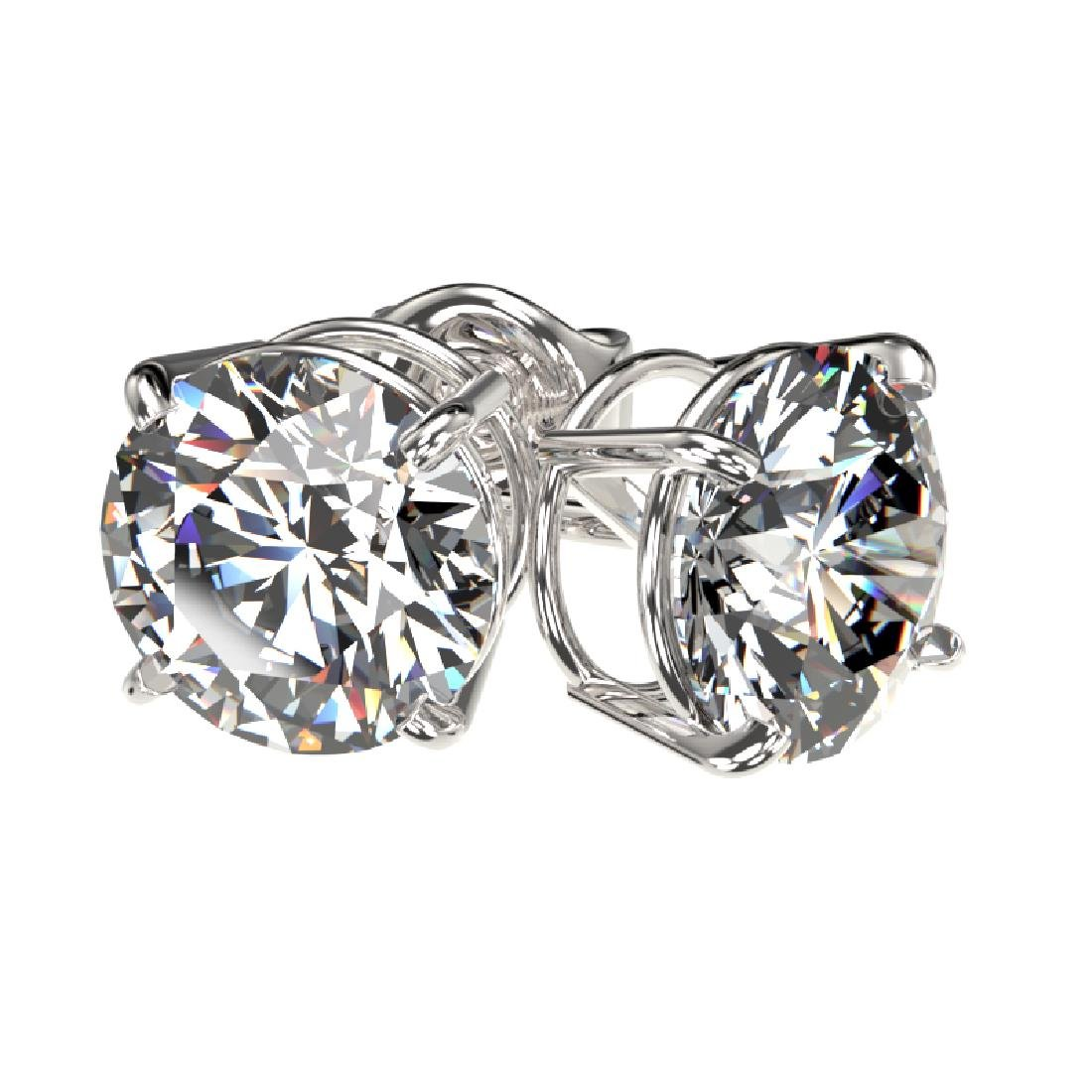 2 CTW Certified H-SI/I Quality Diamond Solitaire Stud - 3
