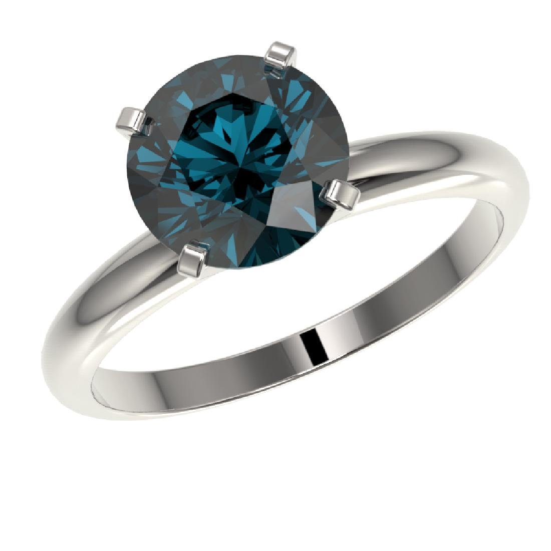 2.50 CTW Certified Intense Blue SI Diamond Solitaire - 2