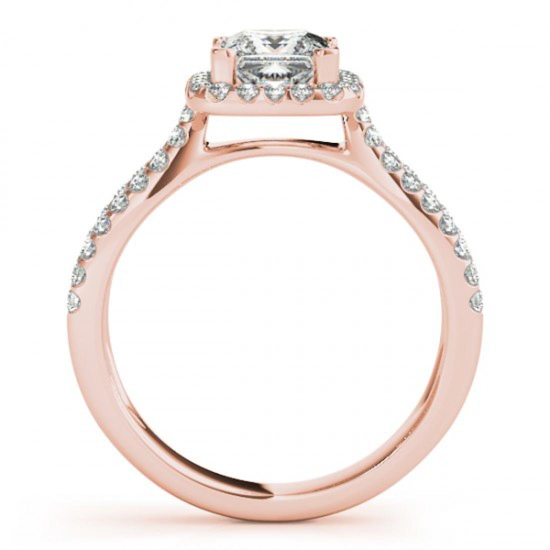 0.85 CTW Certified VS/SI Princess Diamond Solitaire - 2