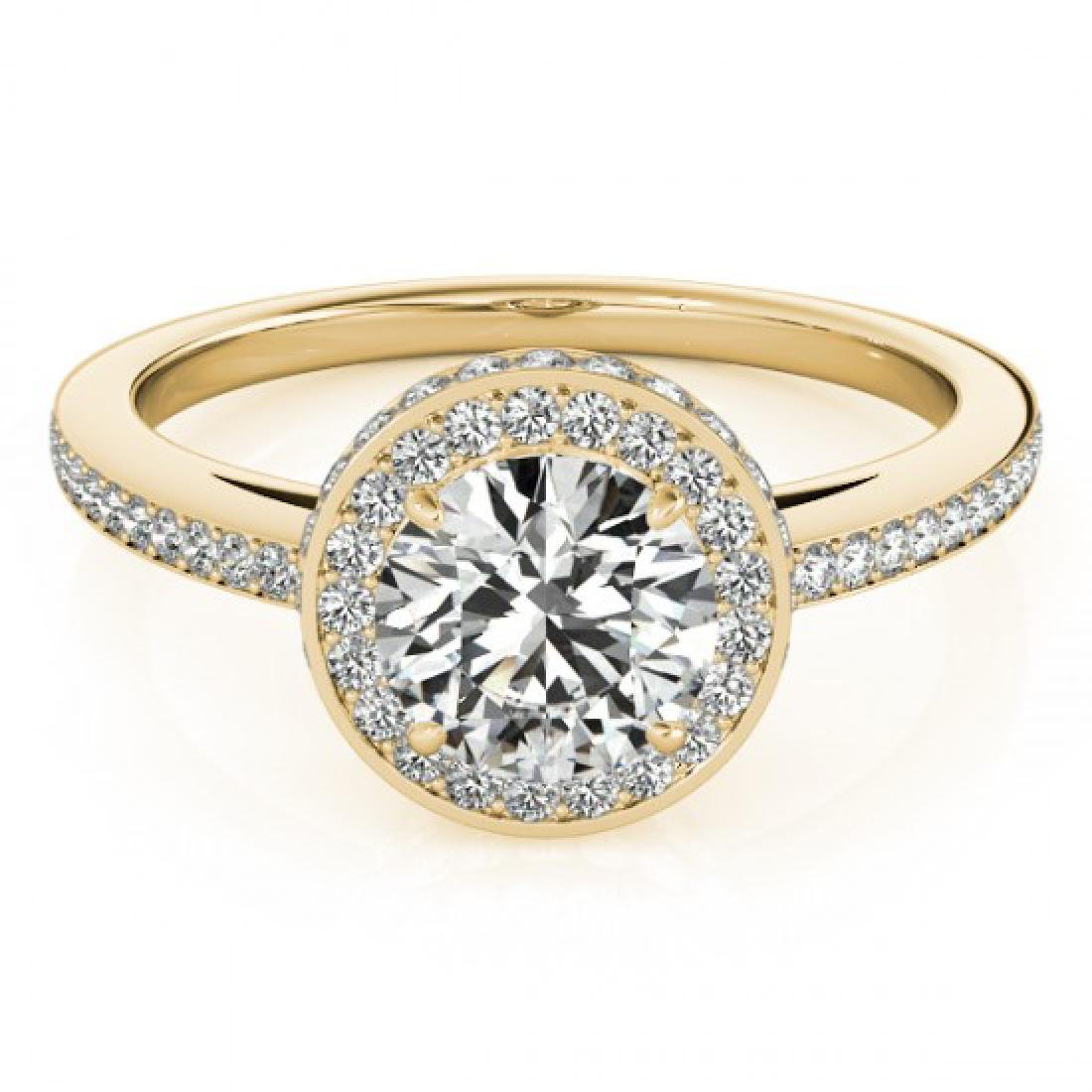 1.55 CTW Certified VS/SI Diamond Solitaire Halo Ring