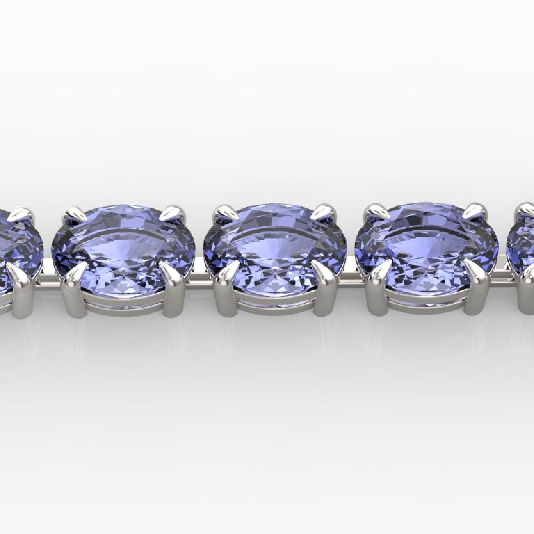 24 CTW Tanzanite Eternity Designer Inspired Tennis