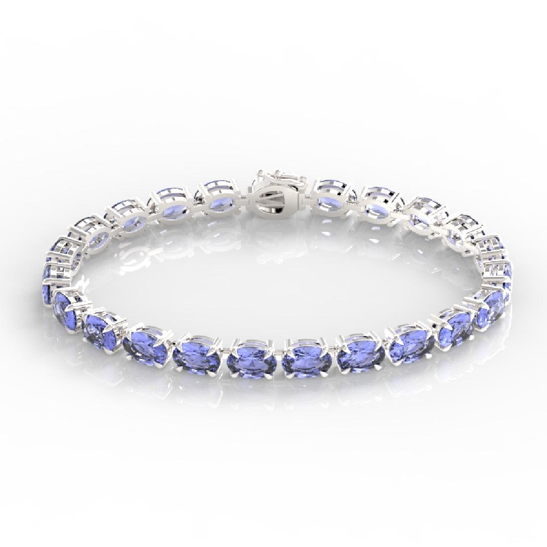 24 CTW Tanzanite Eternity Designer Inspired Tennis - 2