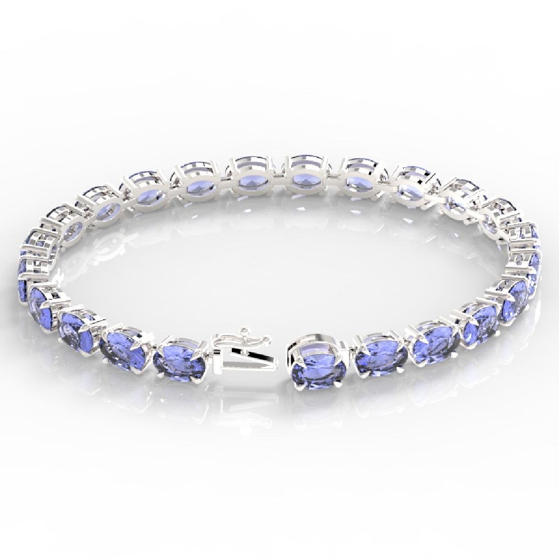 24 CTW Tanzanite Eternity Designer Inspired Tennis - 3