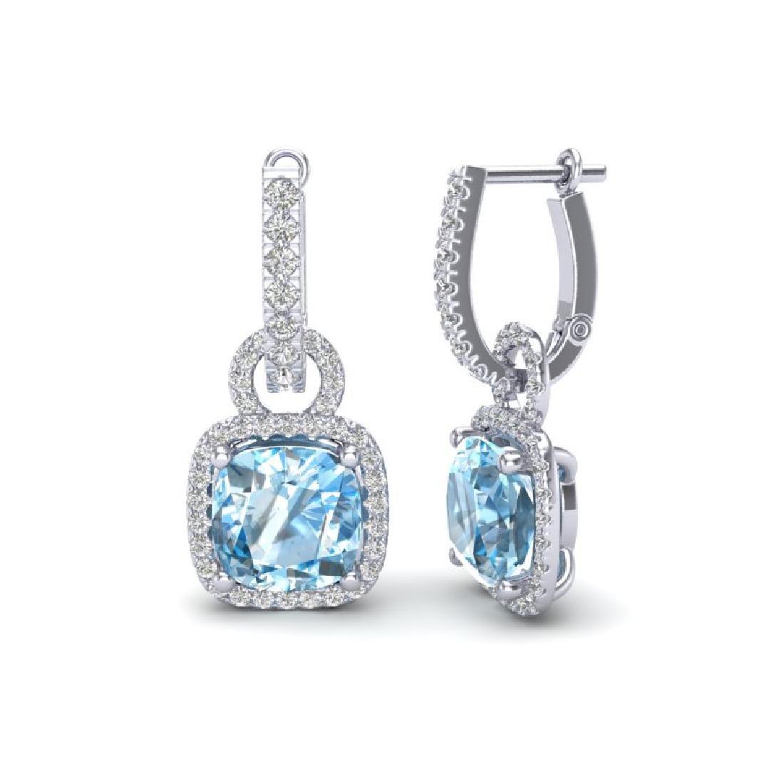 7 CTW Sky Blue Topaz & Micro Pave VS/SI Diamond - 2