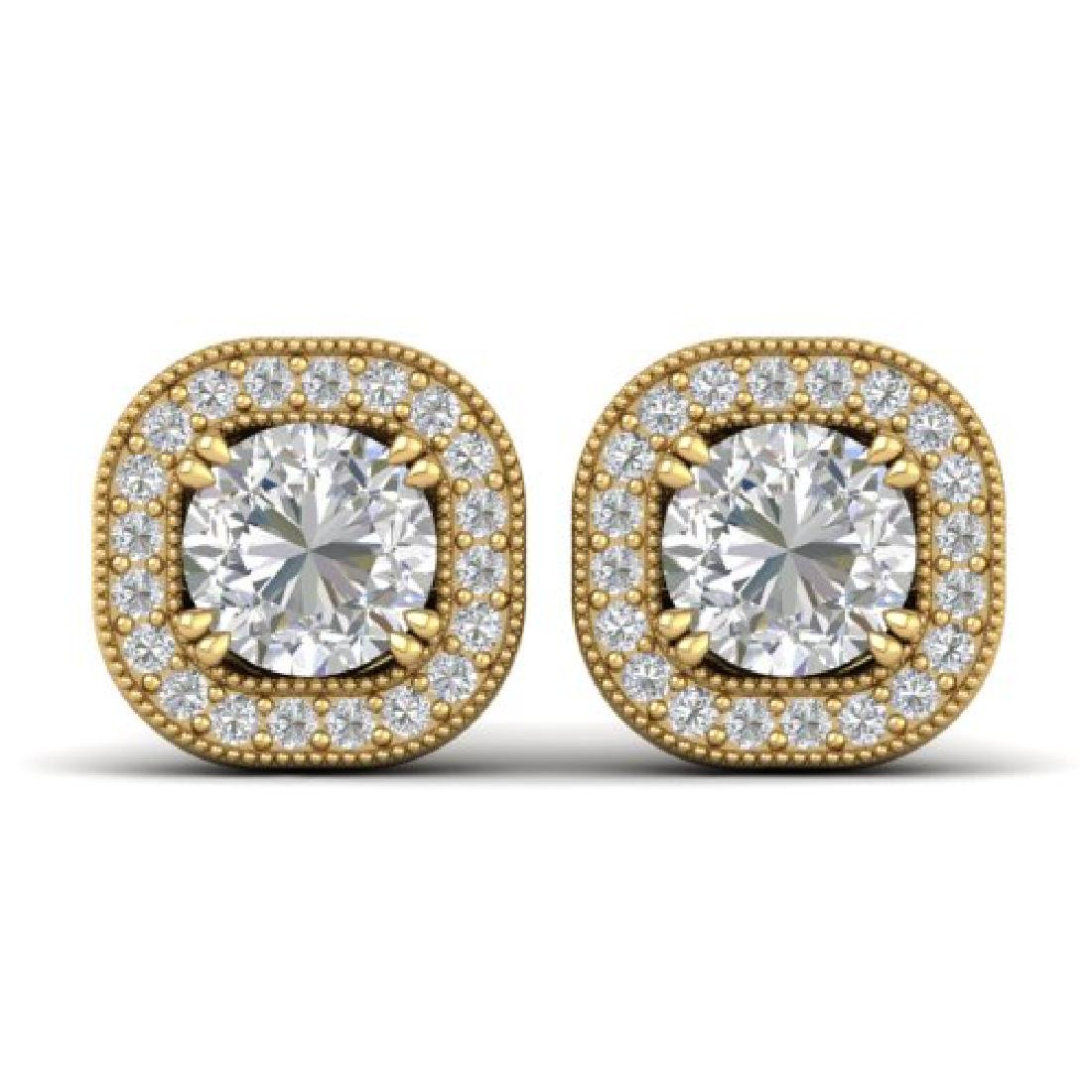 1.35 CTW Certified VS/SI Diamond Stud Micro Halo