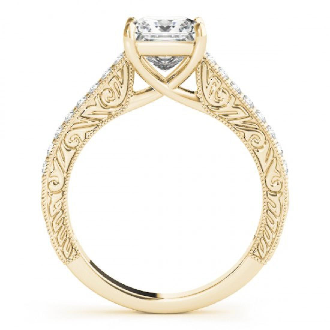1.3 CTW Certified VS/SI Princess Diamond Solitaire ring - 2