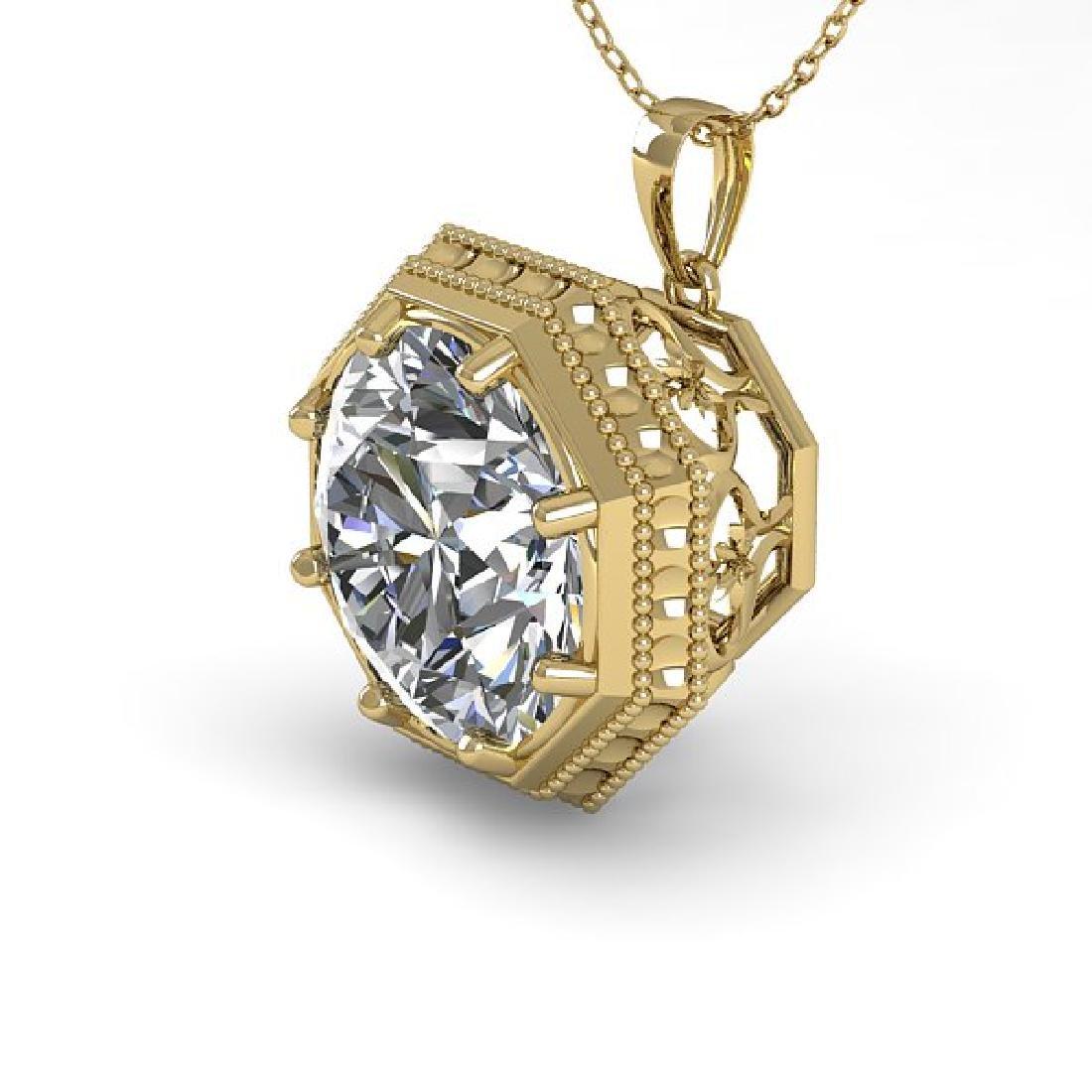 1.50 CTW VS/SI Diamond Solitaire Necklace 14K Yellow