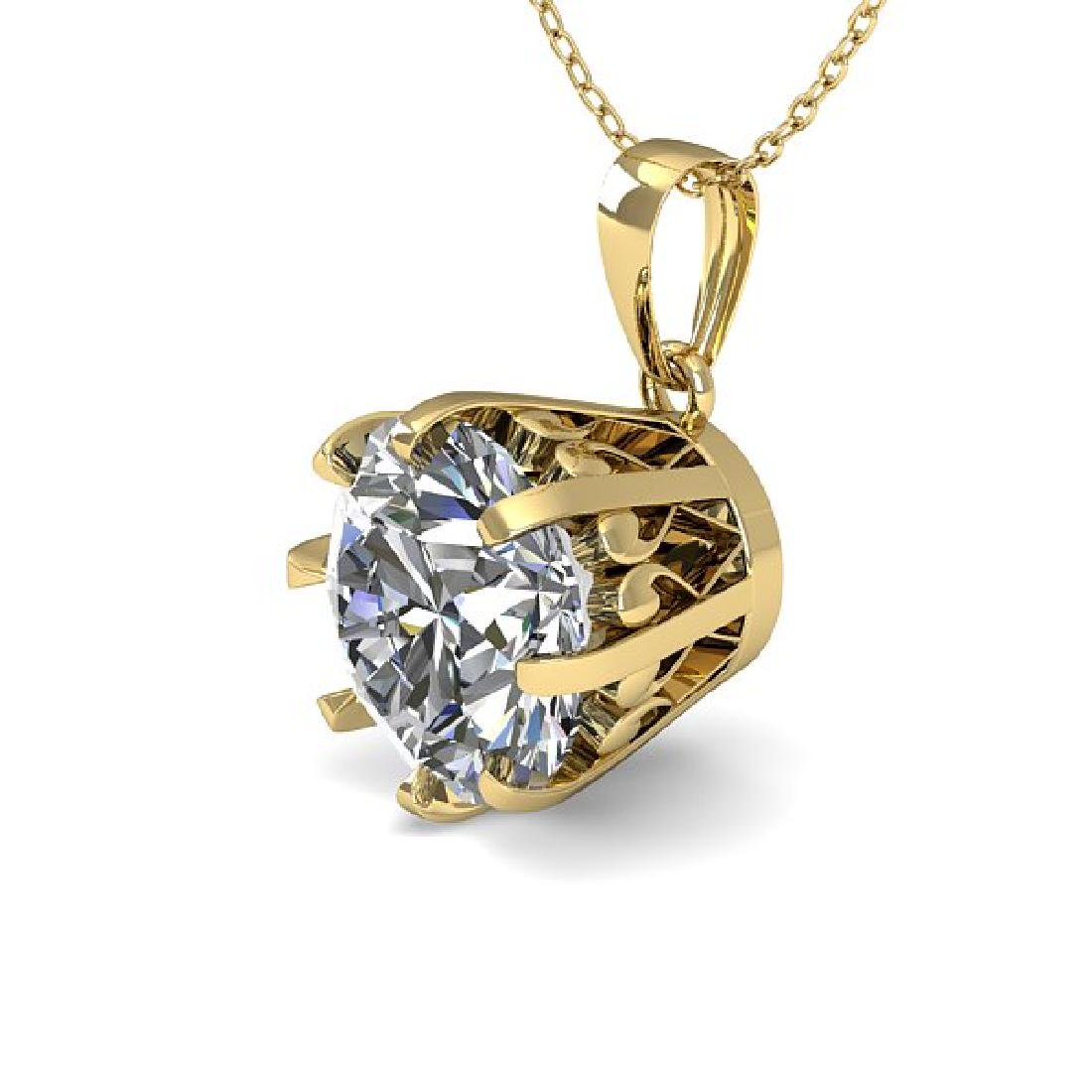 1 CTW VS/SI Diamond Solitaire Necklace 14K Yellow Gold