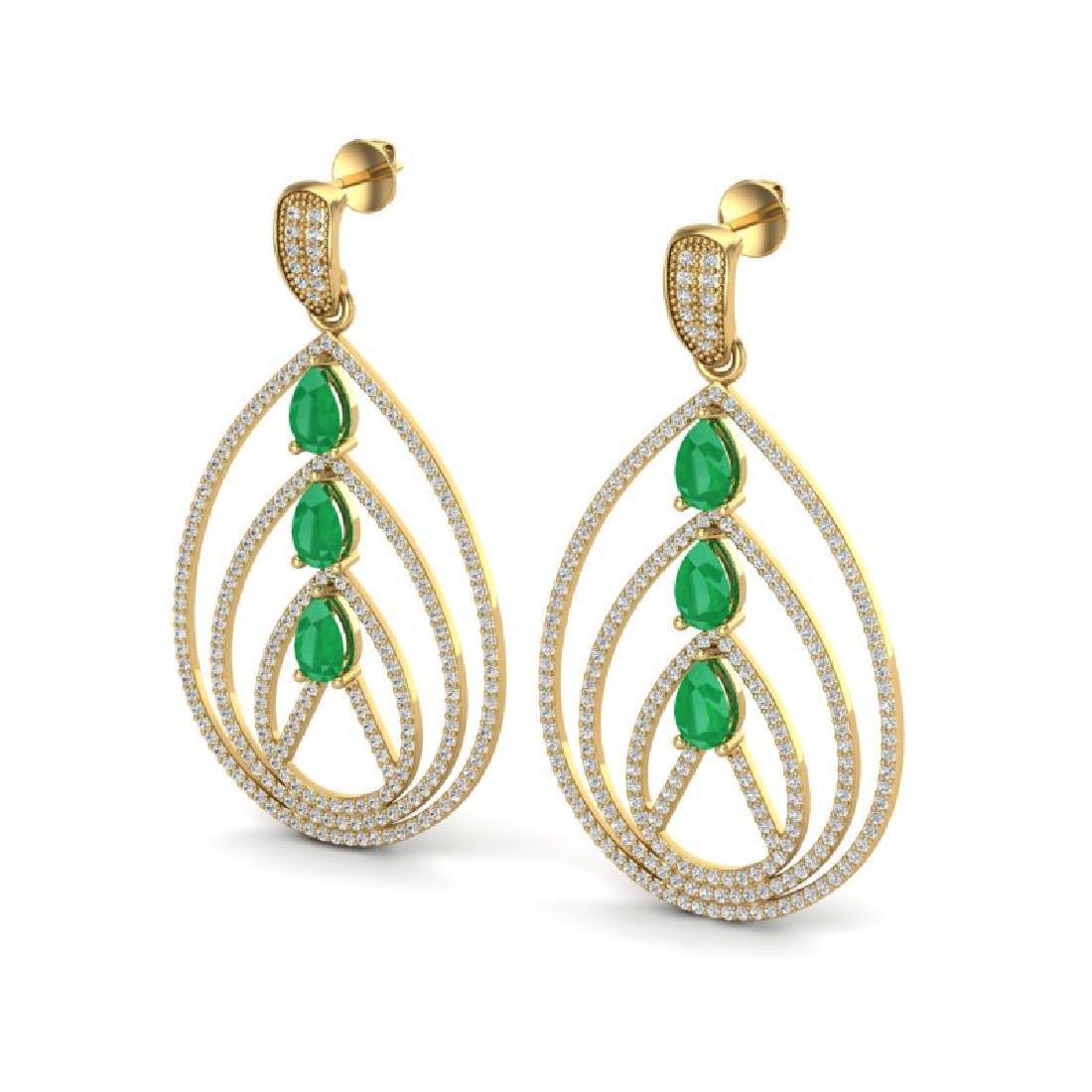 4 CTW Emerald & Micro Pave VS/SI Diamond Designer