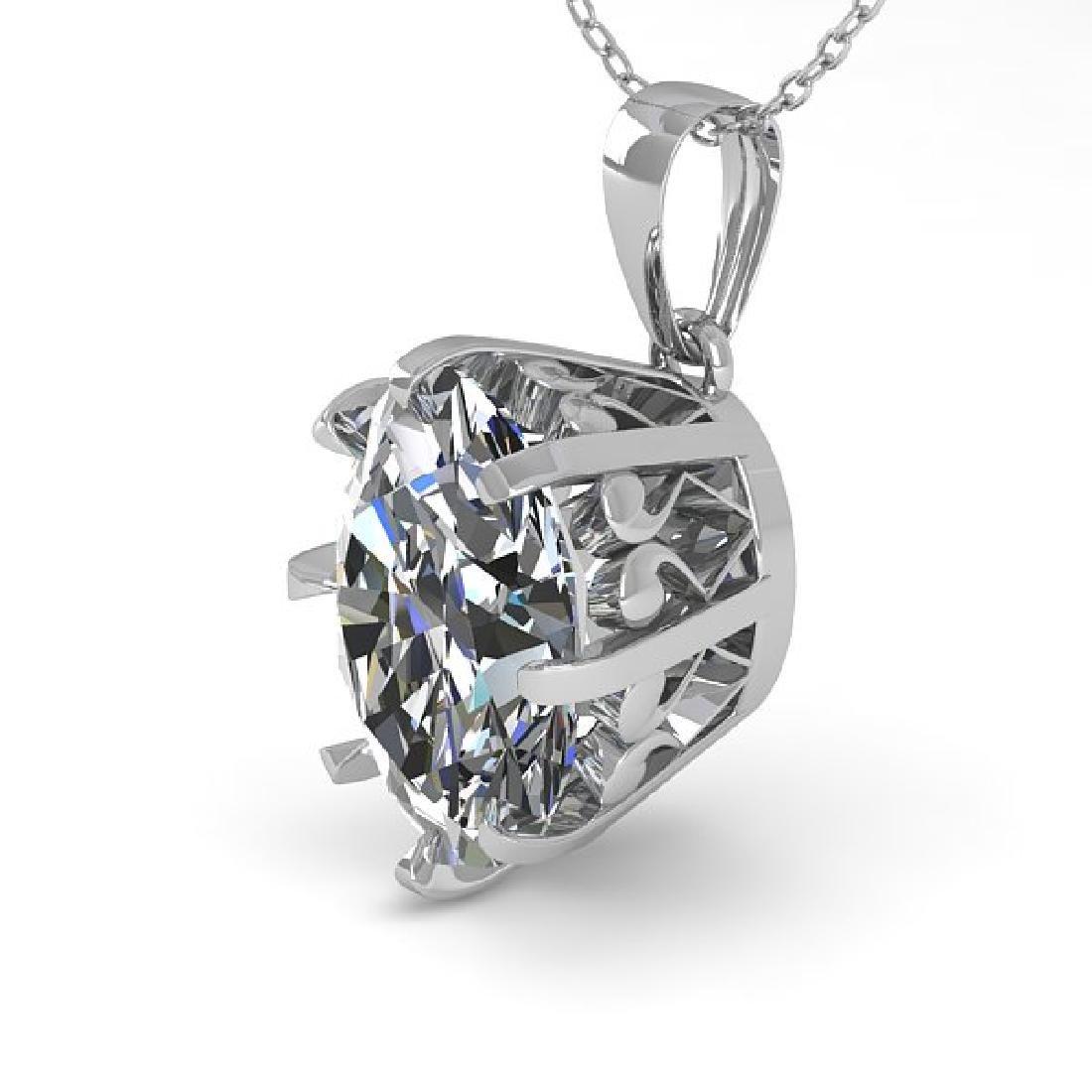 1 CTW VS/SI Oval Diamond Solitaire Necklace 14K White